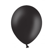 Ballon Pastel 27cm Zwart 50 Stuks
