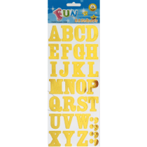 Fun Stickers Goud Letters