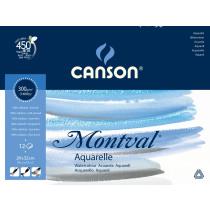 Aquarelblok 12 Vellen 24x32cm Canson 300g/m²
