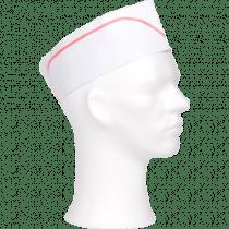 Keukenmutsen Papier Wit Met Rode Lijn 100 Stuks