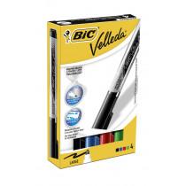 Bic Velleda Liquid Ink Zwart/Blauw/Rood/Groen