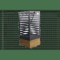 Lantaarn 12x12x27cm Zwart In Hout En metaal