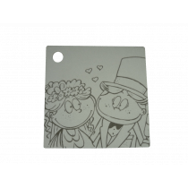 Naamkaartje 4X4Cm Wit Bruidskoppel 50 Stuks