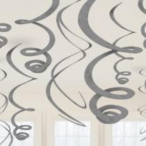 Deco Swirl 55cm Zilver 12 Stuks