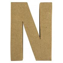 Letter Papiermache N 10,5x3x15cm