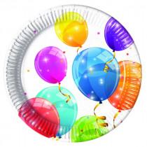 Bordjes 23cm Sparkling Balloons 8 Stuks