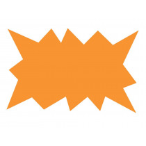 Herbeschrijfbaar Karton 11x7cm Oranje Ster Fluo 25 Stuks