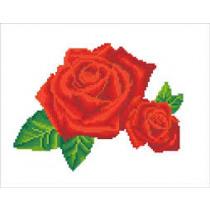 Diamond Dotz Diamond Dotz Red Rose Sparkle 35x43cm