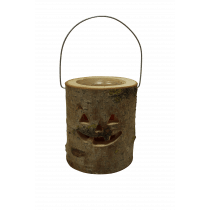 Lantaarn Met Glas En Kaars 18cm 16cm Diameter 50uur