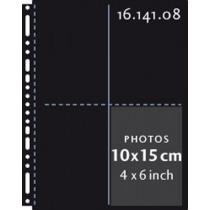 Henzo Fototassen Zwart 10X15 Verticaal 10Stuks