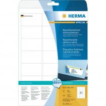 Etiketten 63,5x38,1mm Herma Adresetiketten Removable A4 25 Vellen 525 Stuks