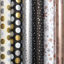 Inpakpapier Glitter Flakes 2m x 70cm Assortiment