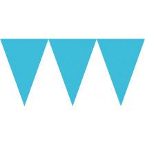 Vlaggenlijn 4,5m x 24,5cm Blauw
