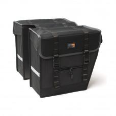 Dubbele tas 100 Maxi zwart/grijs Achtertas Dubbel