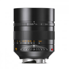 Leica 11676 NOCTILUX-M 75mm f/1.25 ASPH black anodized finish