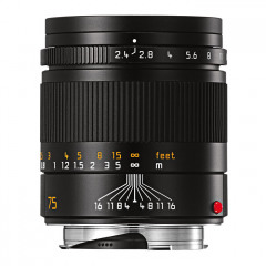 Leica 11682 SUMMARIT-M 75mm f/2.4 black anodized finish