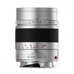 Leica 11685 SUMMARIT-M 90mm f/2.4 silver anodized finish