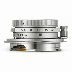 Leica 11695 SUMMARON-M 28mm f/5.6 silver chrome finish