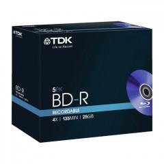 TDK BD-R 5st BluRay 4x rec. 25Gb