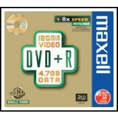 Maxell DVD+R Jewel Case Pack 5