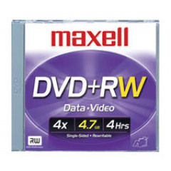Maxell DVD+RW 120/4.7GB Spindle 25 4X