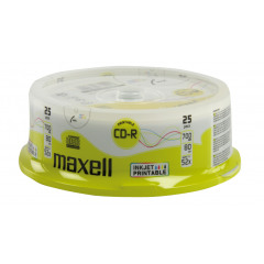 Maxell CD-R 80 700MB 25 Spindle Inkjet Printable