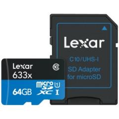 Lexar microSDXC High-Performance UHS-I 633x 64GB