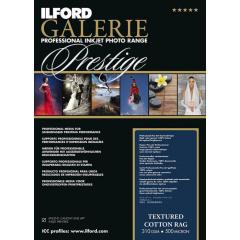 ILFORD Textured Cotton Rag A3+ 25v  310g Galerie Prestige