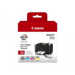 CANON PGI-1500XL BK/C/M/Y inktcartridge zwart en drie kleuren