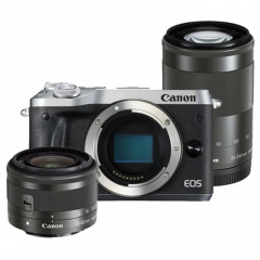 Canon EOS M6 Silver + EF-M 15-45 IS STM + EF-M 55-200 IS STM