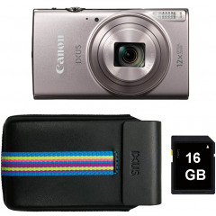 Canon IXUS 285 HS Essentials Kit Silver