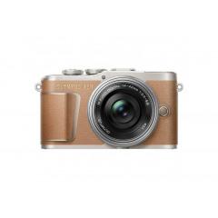 Olympus PEN E-PL9 Brown + Pancake 14-42mm f/3.5-5.6 Silver