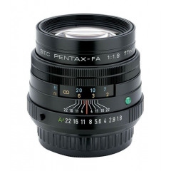 Pentax 77mm f/1,8 Limited, zwart