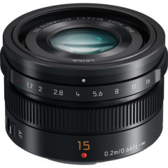 Panasonic 15mm f1.7 ASPH. Leica DG Summilux Zwart