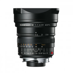 Leica 11647 SUMMILUX-M 21mm f/1.4 ASPH., black anodized finish