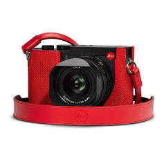 Leica 19572 Leather Carrying strap Q2 Red