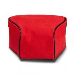 Leica 19575 Q2 Ettas Pouch Coated Canvas Red