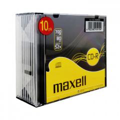 Maxell CD-R Slim Case Pack 10