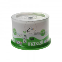 Maxell DVD+R 120/4.7GB Spindle 50 White Printable