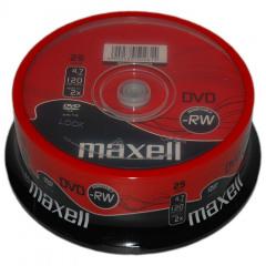 Maxell DVD-RW 120/4.7GB Spindle 25 2X