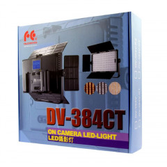Falcon Eyes LED Lamp Set Dimbaar DV-384CT-K2 incl. Accu