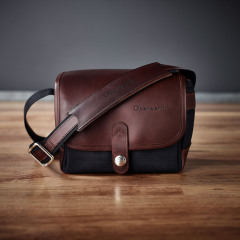 Oberwerth Frankfurt Dark Brown Leather/Cordura Black