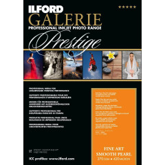 Ilford Galerie Prestige FineArt Smooth Pearl 270gsm - A2 - 420mm x 594mm - 25 sheets