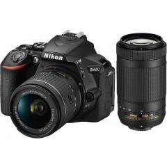 Nikon D5600 + 18-55 + 70-300 + Tas + 16GB