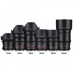 Samyang Videolens Promo Kit met 6 lenzen Canon