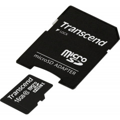 Transcend 16GB microSDHC Class 10 with adapter