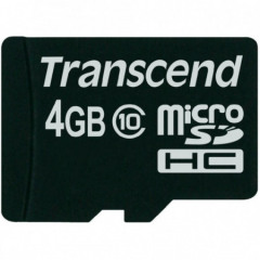 Transcend 4GB micro SDHC CARD Class 10 (20MB/s   133x)(with adapter