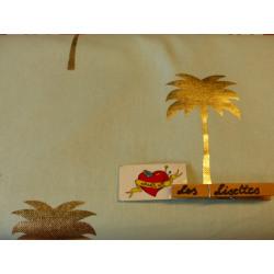 Canvas Palm Gold