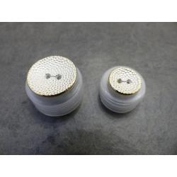 Knoop Goud-Wit 15mm en 23mm