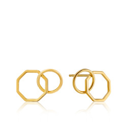 Ania Haie Two shape stud earrings